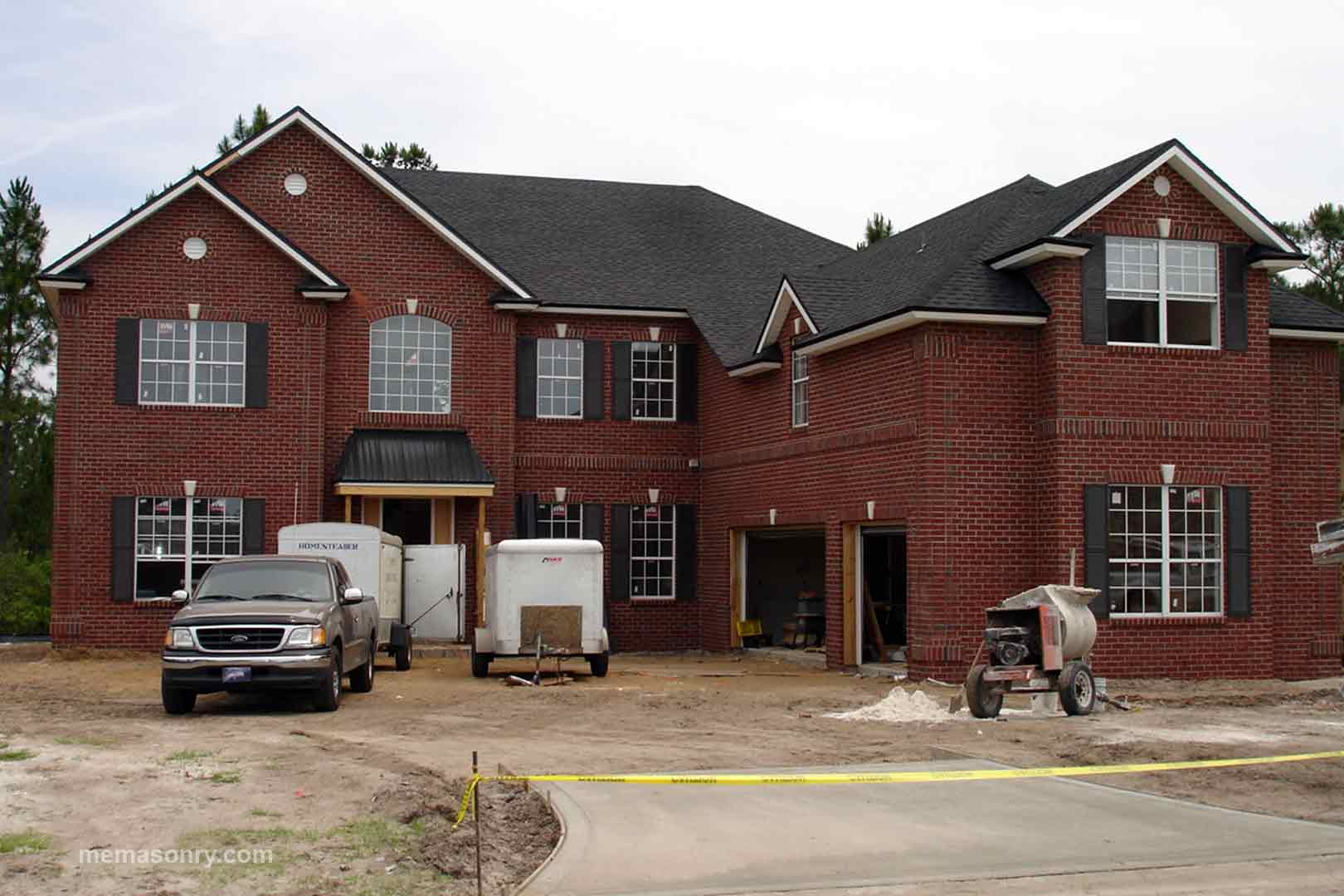 M&E Masonry & Sons brick house project