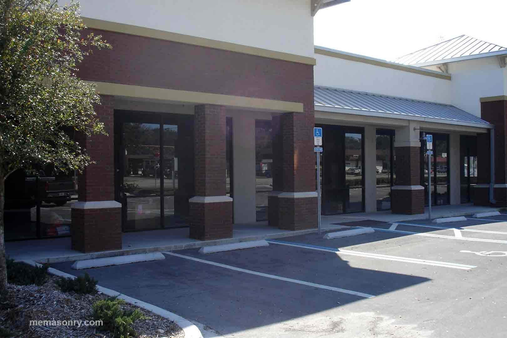 M&E Masonry & Sons shopping center project