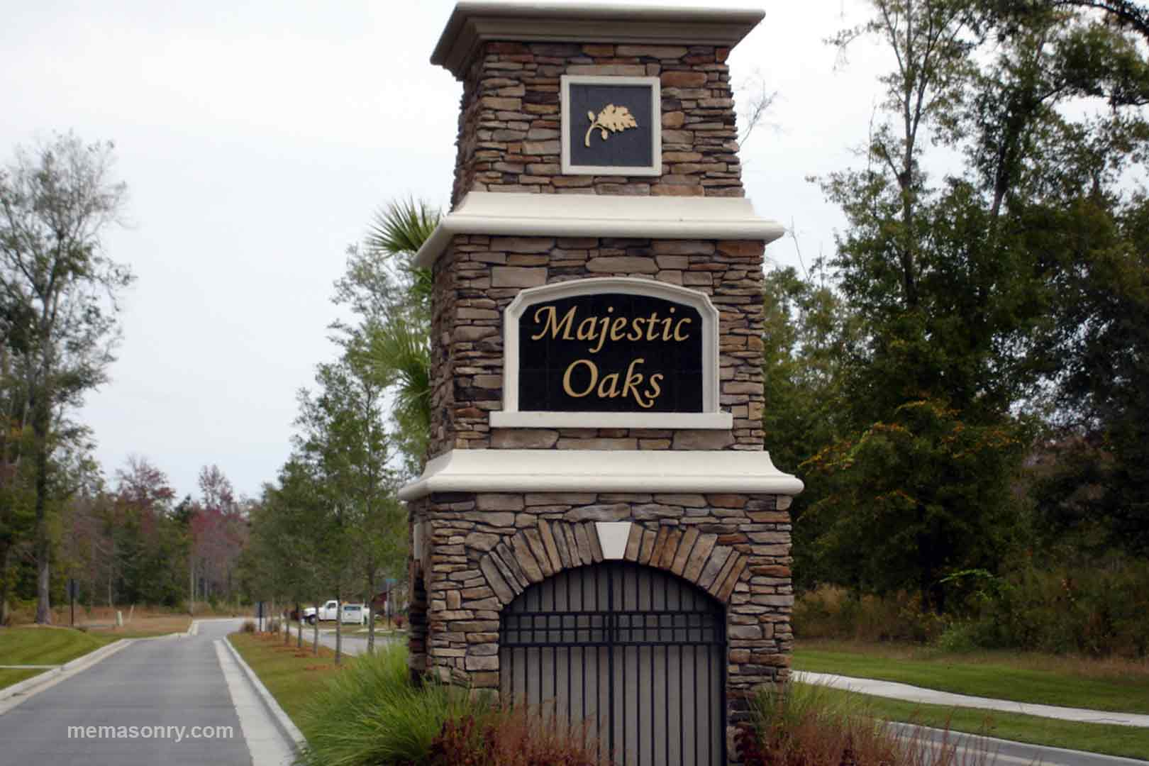 M&E Masonry & Sons Majestic Oaks project